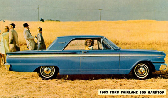Ford Fairlane 500 Hardtop 1963 Grainfield | Vintage Cars 1891-1970