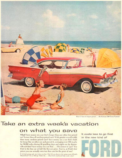 Ford Fairlane 500 Town Victoria 1957 | Vintage Cars 1891-1970