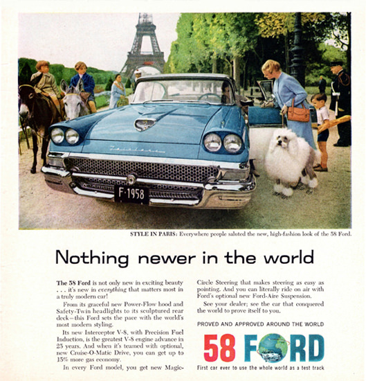 Ford Fairlane 500 Town Victoria 1958 Paris | Vintage Cars 1891-1970