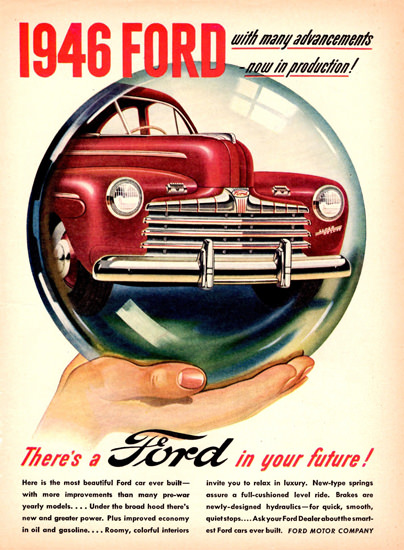 Ford For In Your Future 1946 Crystal Ball | Vintage Cars 1891-1970