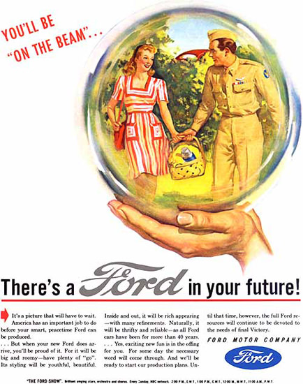 Ford In Your Future Crystal Ball Soldier | Vintage Cars 1891-1970