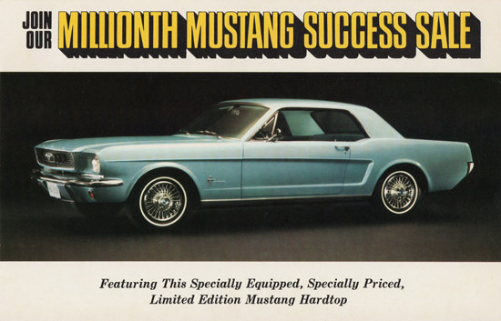 Ford Millionth Mustang Limited Edition 1966 | Vintage Cars 1891-1970