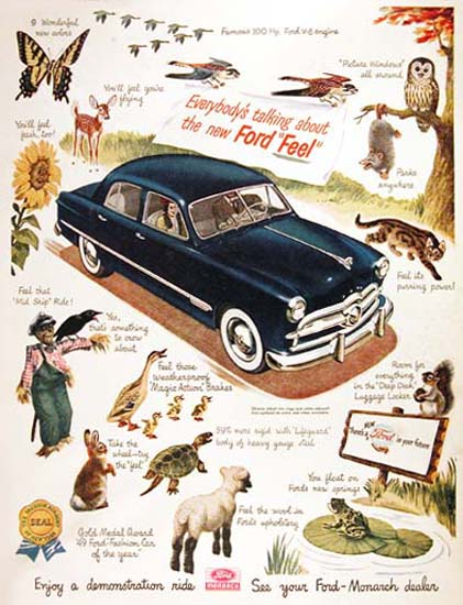 Ford Monarch 1949 Ford Feel Animals | Vintage Cars 1891-1970