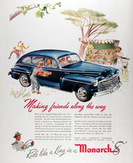 Ford Monarch 8 Blue Ride Like A King 1947 | Vintage Cars 1891-1970