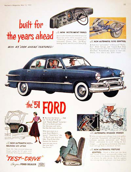 Ford Monarch Sedan 1951 For The Years Ahead | Vintage Cars 1891-1970