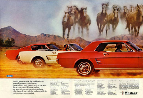 Ford Mustang 1966 Mustangers 3 Models | Vintage Cars 1891-1970