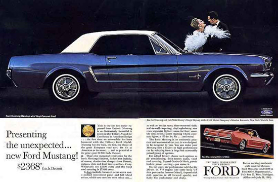 Ford Mustang Couple 1964 | Vintage Cars 1891-1970