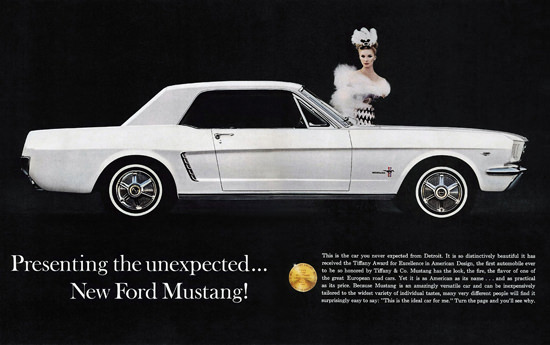 Ford Mustang Lady 1964 | Sex Appeal Vintage Ads and Covers 1891-1970