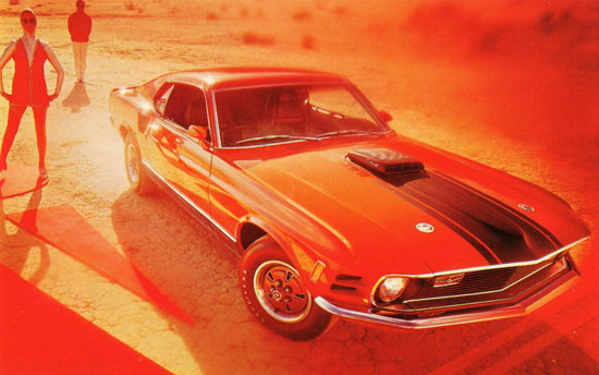 Ford Mustang Mach 1 1970 In Red Mood | Vintage Cars 1891-1970