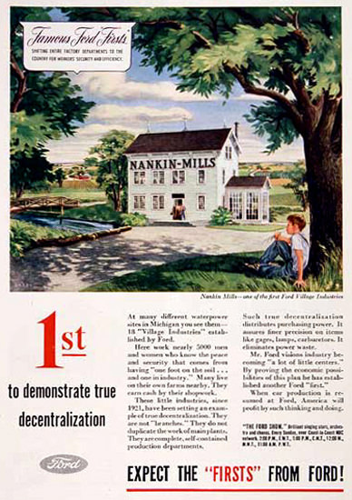 Ford Nankin-Mills 1945 First | Vintage Ad and Cover Art 1891-1970