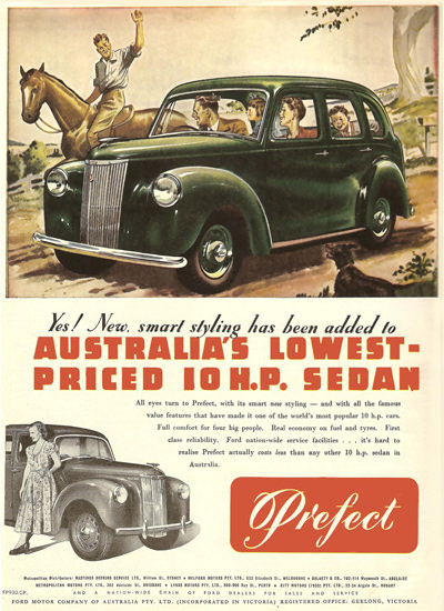 Ford Perfect Sedan Australia | Vintage Cars 1891-1970