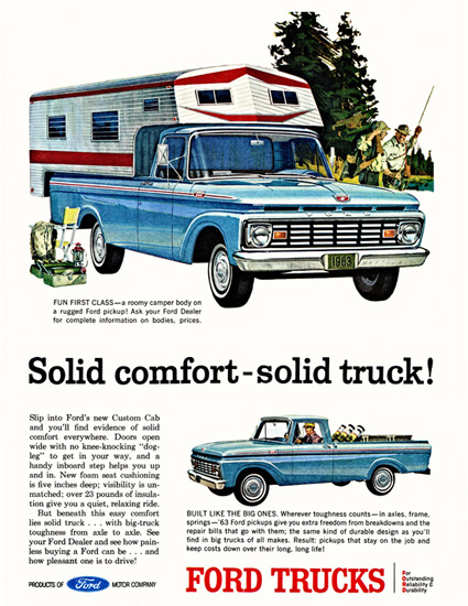 Ford Pickup 1963 Solid Comfort Solid Truck | Vintage Cars 1891-1970