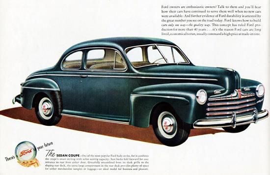 Ford Sedan Coupe 1946 | Vintage Cars 1891-1970
