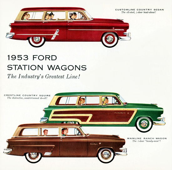 Ford Station Wagons 1953 Do All Handy Man | Vintage Cars 1891-1970