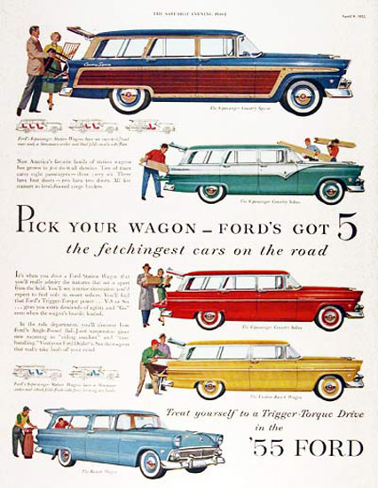 Ford Station Wagons 1955 Pick Your Wagon | Vintage Cars 1891-1970