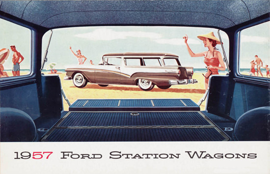 Ford Station Wagons 1957 Beach | Vintage Cars 1891-1970
