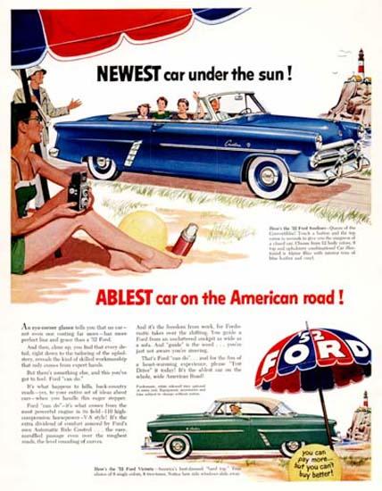 Ford Sunliner Conv 1952 Ablest Car On Roads | Vintage Cars 1891-1970