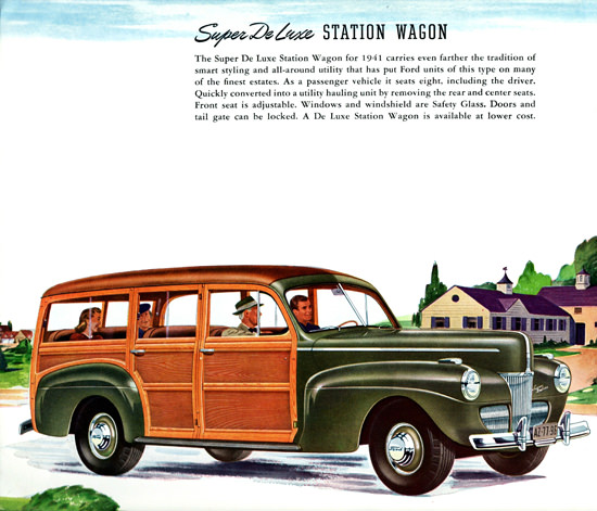 Ford Super De Luxe Station Wagon 1941 | Vintage Cars 1891-1970