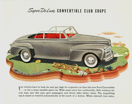 Ford Super DeLuxe Convertible 1942 | Vintage Cars 1891-1970