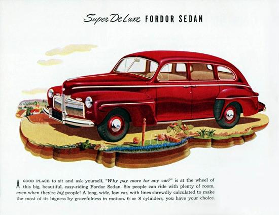 Ford Super DeLuxe Fordor Sedan 1942 | Vintage Cars 1891-1970