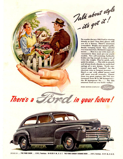Ford Super Deluxe Tudor Sedan 1946 Crystal Ball | Vintage Cars 1891-1970