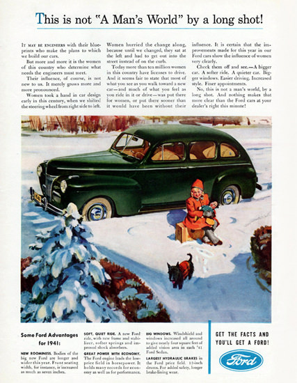 Ford This Is Not A Mans World 1941 | Vintage Cars 1891-1970