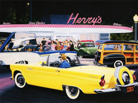Ford Thunderbird At Henrys Drive In 1956 | Vintage Cars 1891-1970