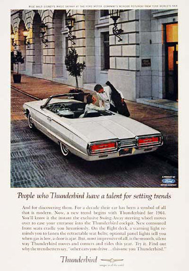 Ford Thunderbird Convertible 1964 White | Vintage Cars 1891-1970