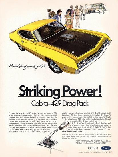 Ford Torino Cobra V8 429 Drag Pack 1970 | Vintage Cars 1891-1970