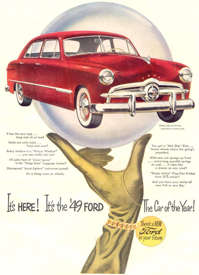 Ford V-8 Car Of The Year 1948   Vintage Cars 1891-1970