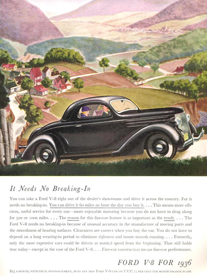 Ford V-8 For 1936 | Vintage Cars 1891-1970