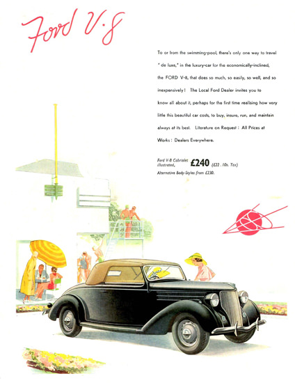 Ford V8 Cabriolet UK 1936 | Vintage Cars 1891-1970