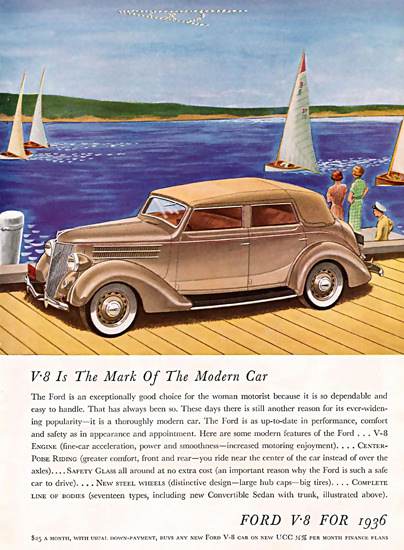 Ford V8 For 1936 The Mark Of The Modern Car | Vintage Cars 1891-1970
