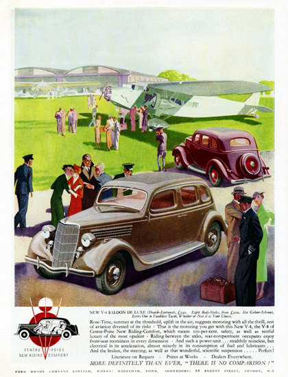 Ford V8 Saloon De Luxe 1935 Airport | Vintage Cars 1891-1970