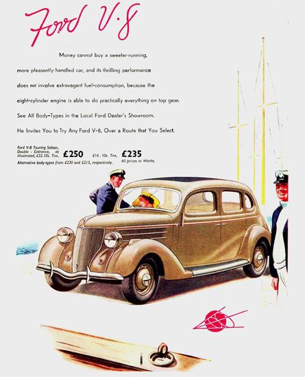 Ford V8 Touring Saloon UK 1936 Brown | Vintage Cars 1891-1970