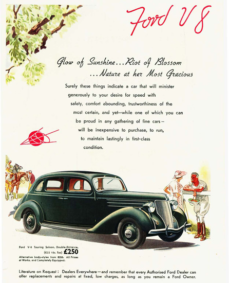 Ford V8 Touring Saloon UK 1936 Green | Vintage Cars 1891-1970