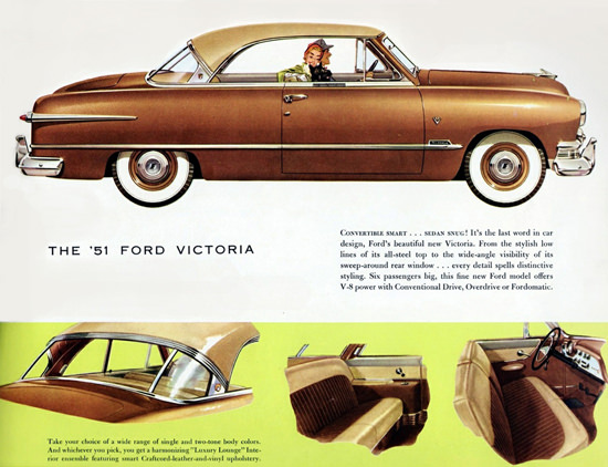 Ford Victoria Convertible Smart Snug 1951 | Vintage Cars 1891-1970
