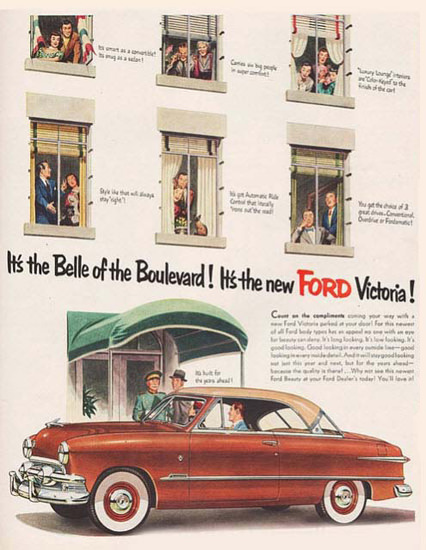 Ford Victoria Its The Belle Of The Boulevard | Vintage Cars 1891-1970