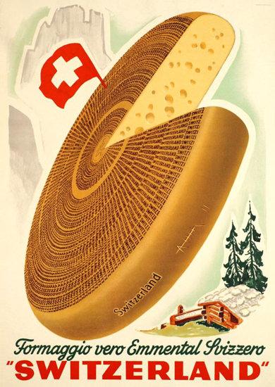 Formaggio Vero Emmental Svizzero 1948 | Vintage Ad and Cover Art 1891-1970