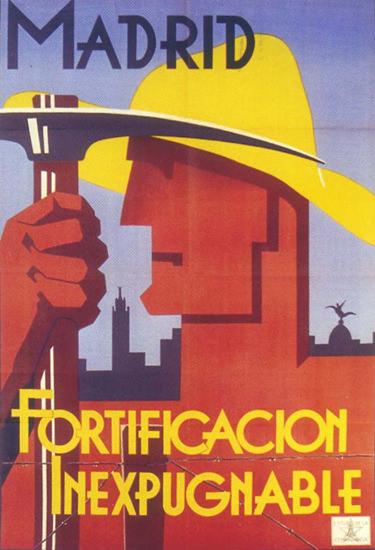 Fortificacion Inexpugnable Madrid Spain Espana | Vintage War Propaganda Posters 1891-1970