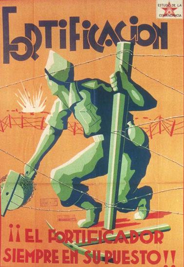 Fortificacion Spain Espana | Vintage War Propaganda Posters 1891-1970