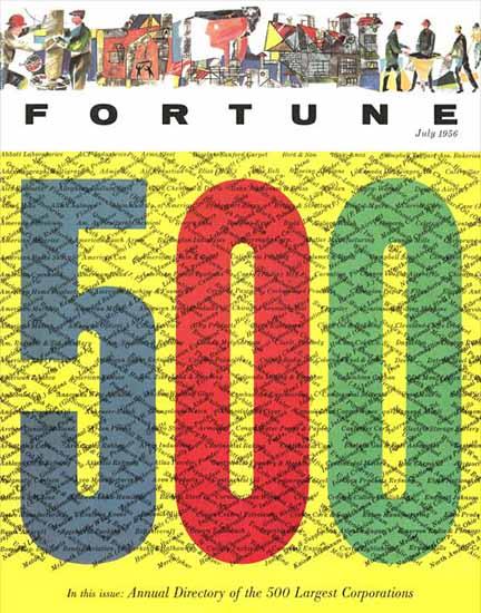Fortune 500 Fortune Magazine July 1956 Copyright   Fortune Magazine Graphic Art Covers 1930-1959