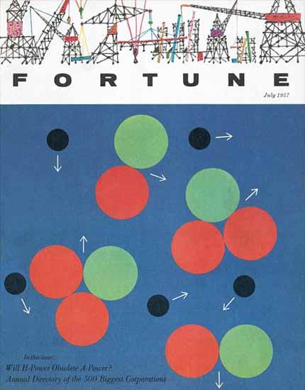 Fortune 500 Fortune Magazine July 1957 Copyright | Fortune Magazine Graphic Art Covers 1930-1959