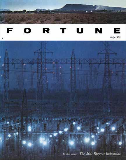 Fortune 500 Fortune Magazine July 1959 Copyright | Fortune Magazine Graphic Art Covers 1930-1959