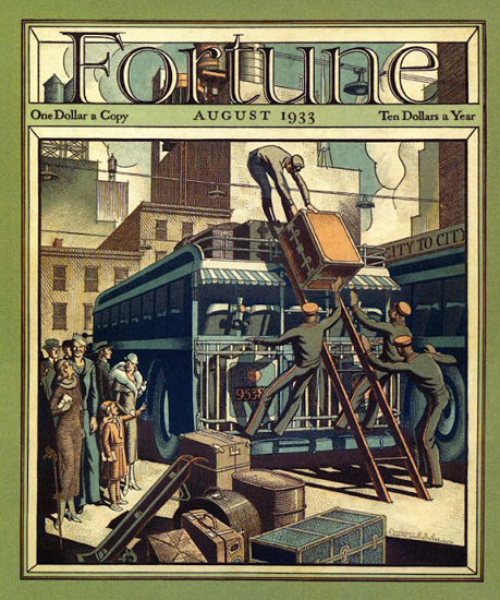 Fortune Magazine Cover Copyright 1933 Coach August | Vintage Ad and Cover Art 1891-1970