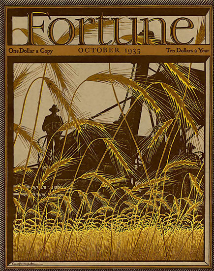 Fortune Magazine Cover Copyright 1935 Harvester | Vintage Ad and Cover Art 1891-1970