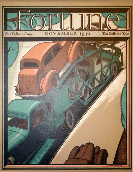 Fortune Magazine Cover Copyright 1936 Transportation | Vintage Ad and Cover Art 1891-1970