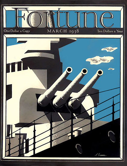 Fortune Magazine Cover Copyright 1938 Battleship | Vintage Ad and Cover Art 1891-1970