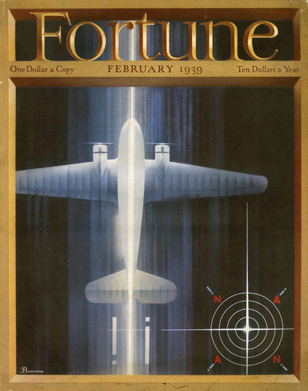 Fortune Magazine Cover Copyright 1939 Airplane | Vintage Ad and Cover Art 1891-1970