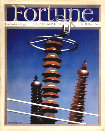 Fortune Magazine Cover Copyright 1939 Isolators | Vintage Ad and Cover Art 1891-1970